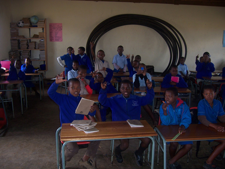 Pupils at Matjana School