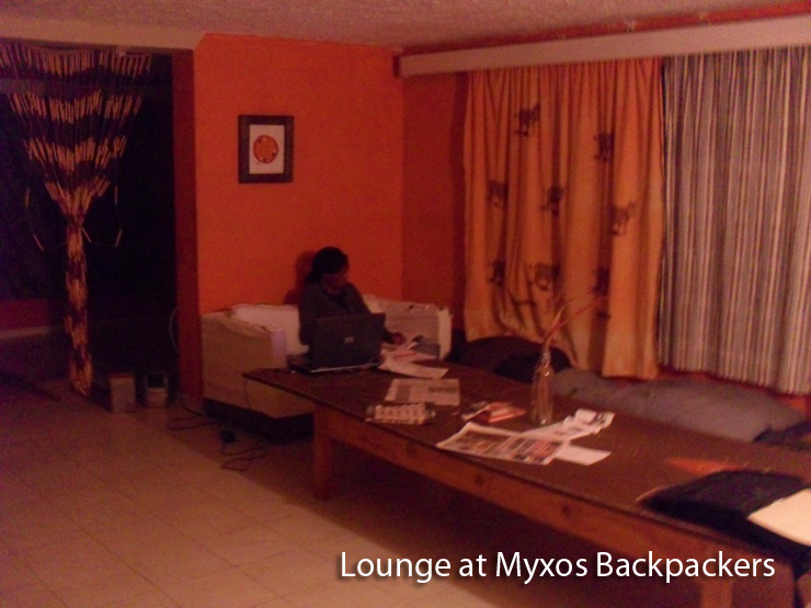 Sitting Room at Myxos Backpackers